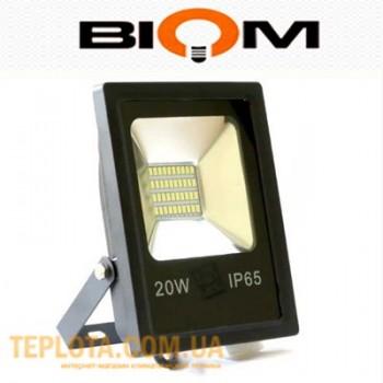 Светодиодный прожектор Biom LED 20W SMD-20-Slim 6500K 220V IP65