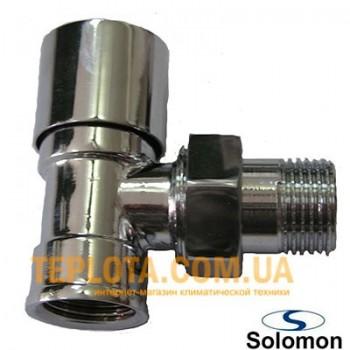 Solomon кран радиаторный нижний, угловой, 1)2*