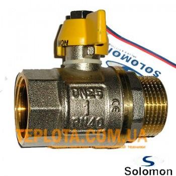Кран шаровый  Solomon 1*2 дюйма НВ газ