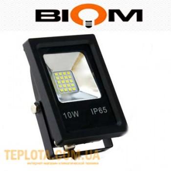 Светодиодный прожектор Biom LED 10W SMD-10-Slim 6500K 220V IP65