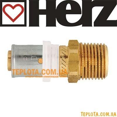 Пресс-фитинг HERZ муфта с наружной резьбой д.20х2-3)4* мм, арт.P702012