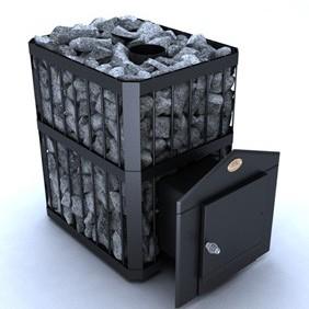Печь-каменка Новаслав Пруток ПКС-02 с выносом ( до 18 м.куб.)