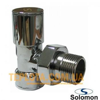 Solomon кран радиаторный верхний, угловой, 1)2*