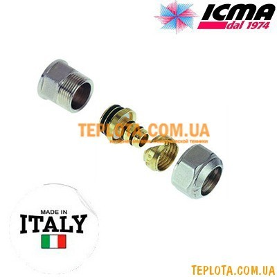 Резьбовой фитинг прямой с внутренней резьбой 20-3)4* ICMA арт.542