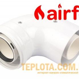 Коаксиальный угол 90 град. Airfel Standart, диаметр 60-100, для газовых котлов Airfel by Daikin