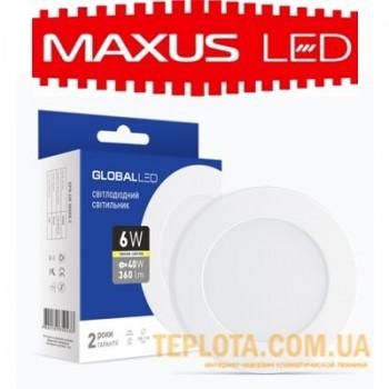 Светодиодный светильник mini Maxus GLOBAL LED SPN 6W 3000K 220V
