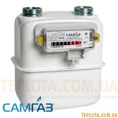 Счетчик газа мембранный САМГАЗ G 1,6 RS-2001-22