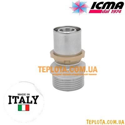 Пресс-фитинг прямой с наружной резьбой 3)4*-20 ICMA SEMPITER арт.402