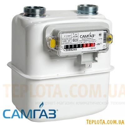 Счетчик газа мембранный САМГАЗ G 2,5 RS-2001-22
