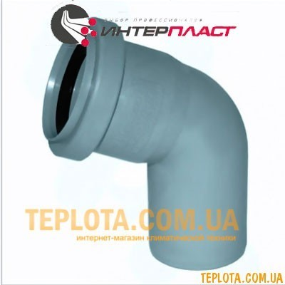 Канализация Интерпласт Колено 50 мм 45°