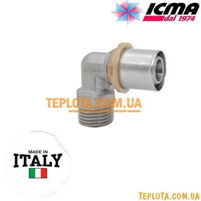 Пресс-фитинг колено с наружной резьбой 1)2*-20 ICMA SEMPITER арт.404