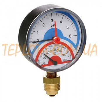 Термоанометр Sandy plus 10 bar диаметр 80 мм подключение радиальное 1)2 дюйма