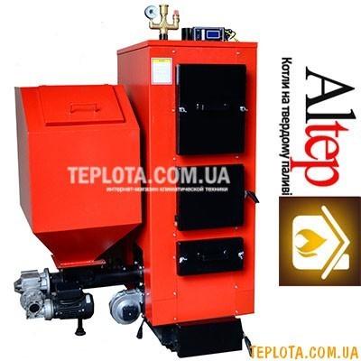 Твердотопливный котел с автоподачей топлива ALTEP КТ-2Е-SH 25 кВт