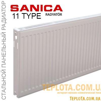 Радиатор стальной SANIСA 11 300x600 (пр-во Турция, 11 класс, высота 300 мм)