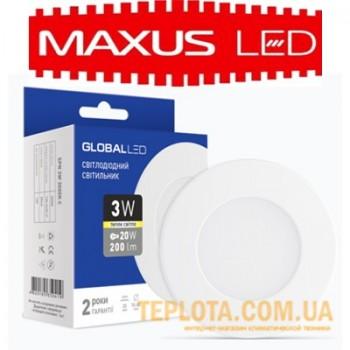 Светодиодный светильник mini Maxus GLOBAL LED SPN 3W 3000K 220V