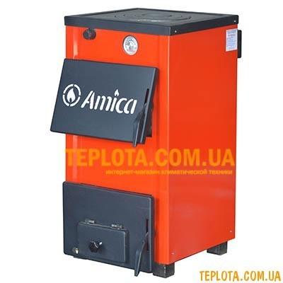 Твердотопливный котел Amica Optima AO14P (мощность 14 кВт)