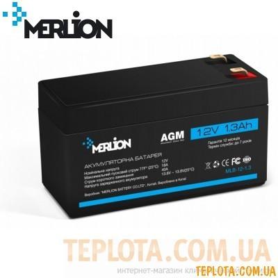 Аккумуляторная батарея мультигелевая MERLION MLB-12-1.3, 12V 1.3Ah