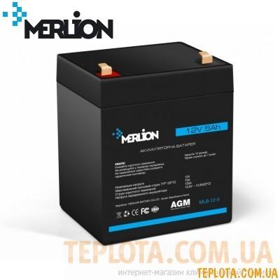 Аккумуляторная батарея мультигелевая MERLION MLB-12-5, 12V 5Ah