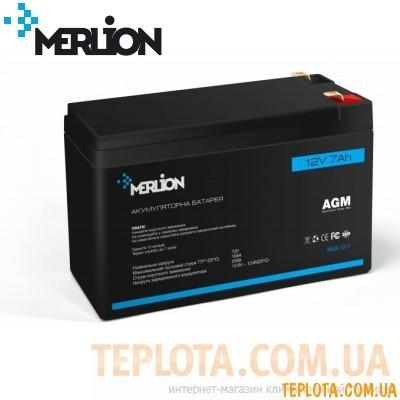 Аккумуляторная батарея мультигелевая MERLION MLB-12-7, 12V 7Ah