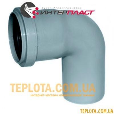 Канализация Интерпласт Колено 50 мм 90°