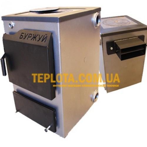Твердотопливный котел с варочной плитой БУРЖУЙ КП-12 с прямоугольным дымоходом (мощность 12 кВт)