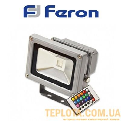 Светодиодный прожектор RGB с пультом ДУ Feron 10W