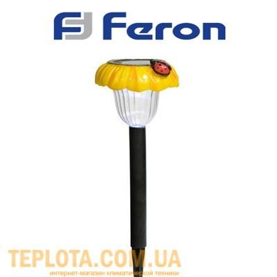 Светодиодный светильник садовый на солнечной батарее Feron *Божья коровка на цветке* (GL18)