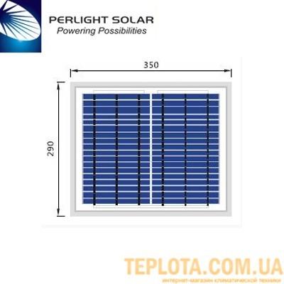 Солнечная батарея Perlight Solar 10 Вт 12 В, поликристаллическая (Grade A PLM-010P-36)