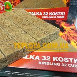 Брикеты для розжига огня Czechowice в картонной упаковке (32 шт.)