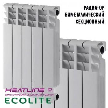 Радиатор биметаллический Heat Line Ecolite 500-80