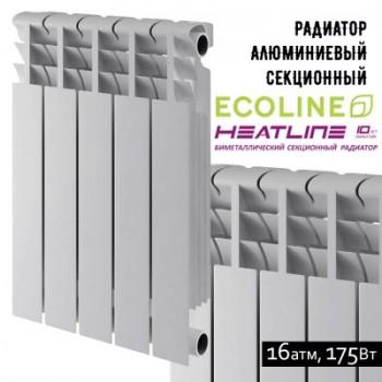 Радиатор алюминиевый HEAT LINE Ecoline 500-76
