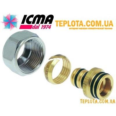 Евроконус ICMA - фитинг для подключение трубы теплого пола 16х2 к коллектору 3)4* арт. 101