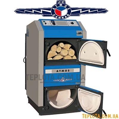 Дровяной пиролизный котел фирмы *ATMOS* - DC 18S (20 кВт)