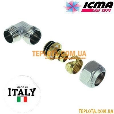 Резьбовой фитинг колено с наружной резьбой 16-1)2* ICMA арт.534