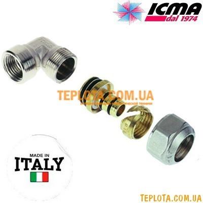 Резьбовой фитинг колено с внутренней резьбой 16-1)2* ICMA арт.535