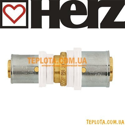 Пресс-фитинг HERZ муфта редукционная д.20х2-16х2 мм, арт.P702001