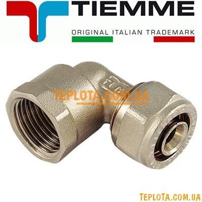 Резьбовой фитинг Tiemme угол (колено) с внутренней резьбой д.16х2-1)2* мм