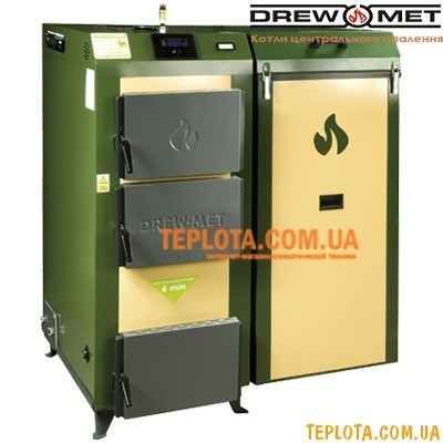 Твердотопливный котел с автоподачей топлива DREW-MET Ekonomik 24 кВт