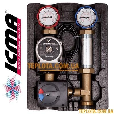 Насосная группа ICMA R001 с автоматической регулировкой (ALPHA 2L 25-60, сервомотор 230 В)