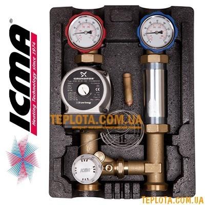 Насосная группа ICMA R002 с фиксированной регулировкой (UPS 25-65)