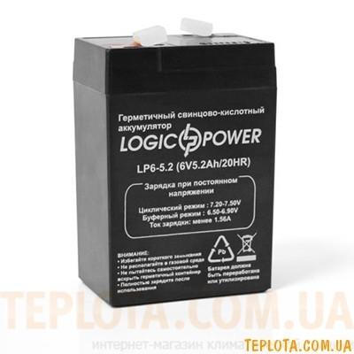 Аккумуляторная батарея LogicPower  LP6-5,2 AH
