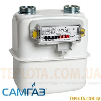 Счетчик газа мембранный САМГАЗ G 1,6 RS-2001-21