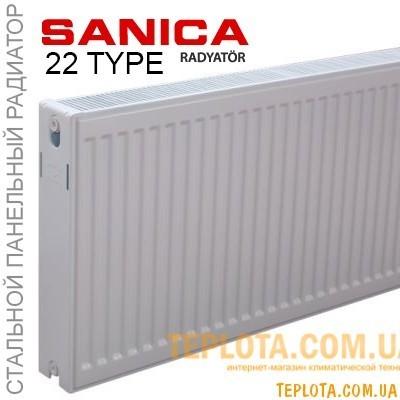 Радиатор стальной SANIСA 22 300x400 (пр-во Турция, 22 класс, высота 300 мм)