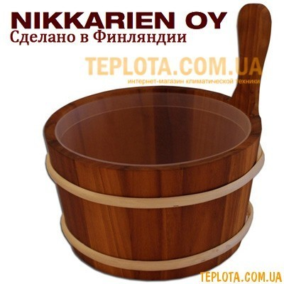 Шайка деревянная 4 литра, ушат, Финляндия