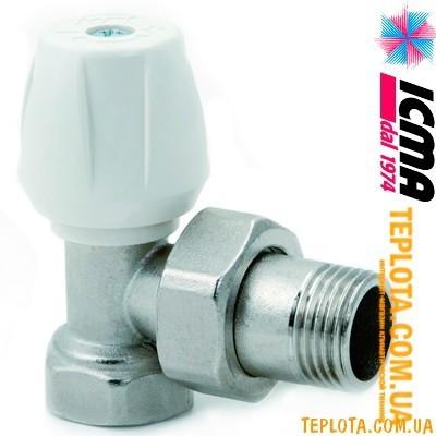 ICMA арт. 803 - Ручной вентиль простой ручной регулировки, угловой, 1)2*