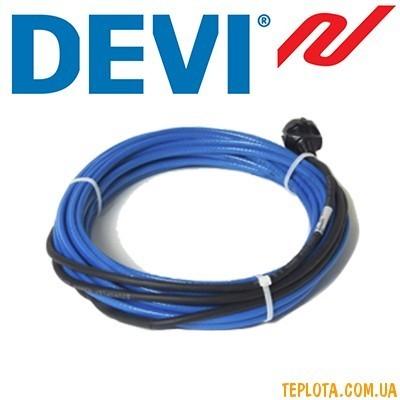 Cаморегулирующийся нагревательный кабель DEVIpipeheat 10 (DPH-10), 20 Вт, 2 м. (Код: 98300071), с вилкой, Дания
