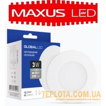 Светодиодный светильник mini Maxus GLOBAL LED SPN 3W 4100K 220V