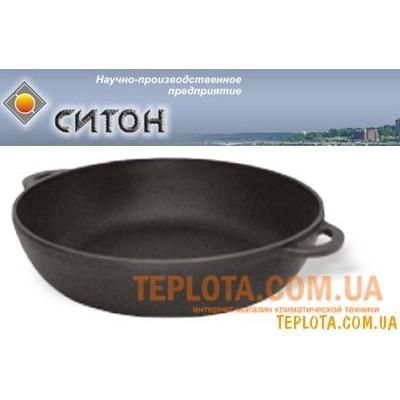 Чугунная сковорода - сотейник с литыми ручками (230х60 мм, СИТОН - Украина)