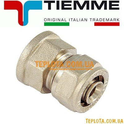 Резьбовой фитинг Tiemme муфта с внутренней резьбой д.16х2-3)4* мм