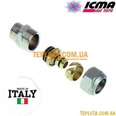 Резьбовой фитинг прямой с наружной резьбой 20-3)4* ICMA арт.541